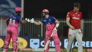 राजस्थान रॉयल्स किंग्स इलेवन पंजाब संजू सैमसन राहुल तेवतिया आईपीएल 2020