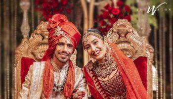 धनश्री वर्मा के साथ शादी के बंधन में बंधे भारतीय स्पिनर युजवेंद्र चहल